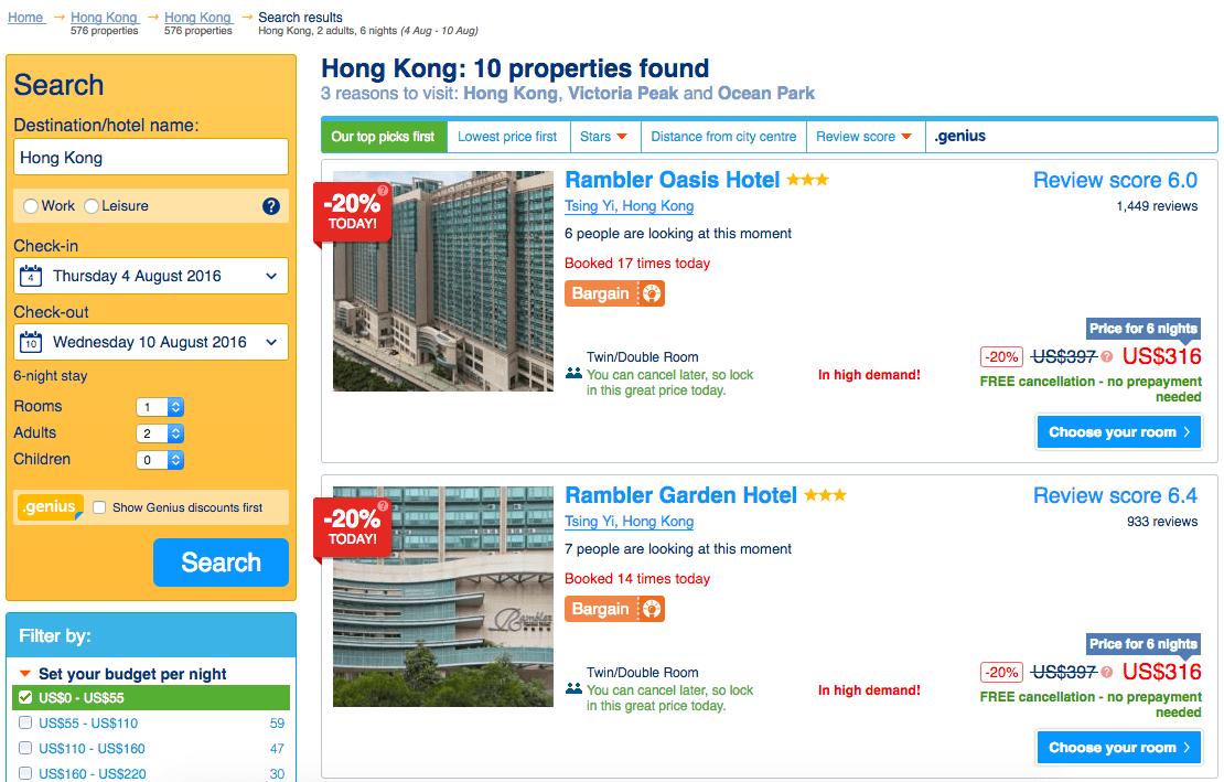 Booking.com Remarketing