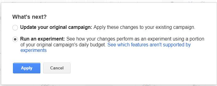 Campaign Experiments Screenshot 5