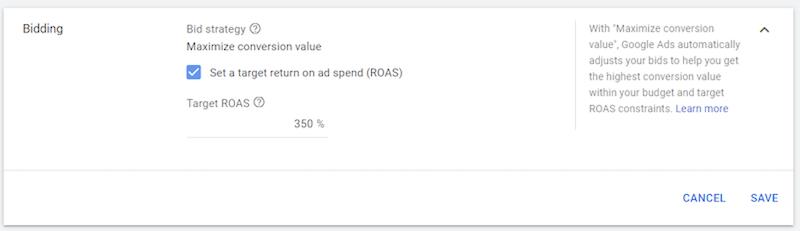 Google ads update bidding strategy